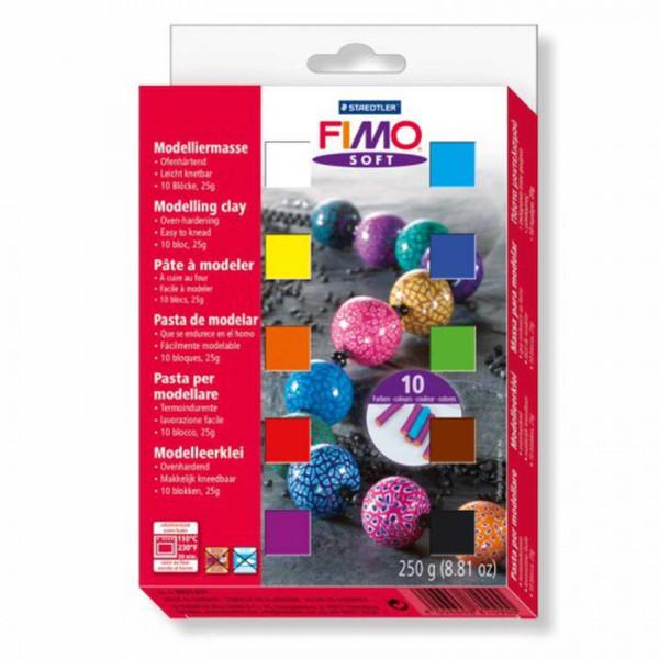Fimo Soft Set 10 Halbblöcke á 25g Von Idee Der Creativmarkt Ansehen