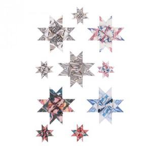 Fröbelstreifen bunt marmoriert 60 Stück