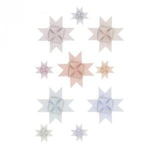 Fröbelsterne Graphic pastell/metallic 40 Stück