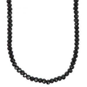 Glasschliffkette schwarz 70cm