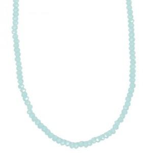 Glasschliffkette türkis 70cm