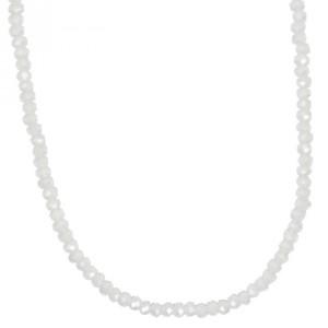Glasschliffkette weiß 70cm