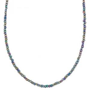 Rocailles Kette multicolor blau 70cm