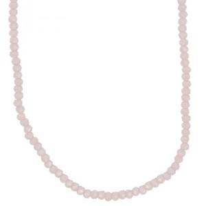 Glasschliffkette rosa 70cm