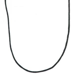 Baumwollkette schwarz 70cm