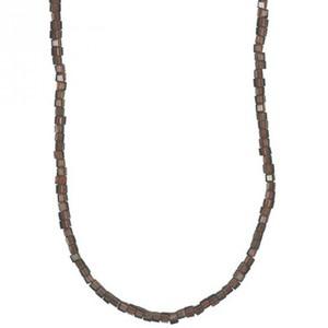 Glasschliffkette Würfel braun 70cm