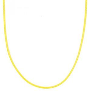 Baumwollkette neongelb 70cm