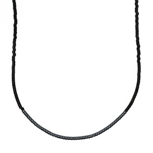 Kette itoshii beads schwarz/grau 65cm