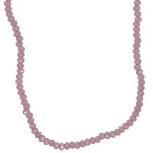 Glasschliffkette lila 70cm