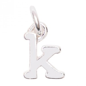 Anhänger Buchstabe K silber 10mm