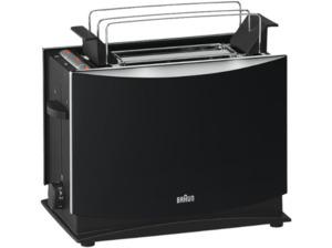 BRAUN HT 450 Toaster Schwarz (1 kW, Schlitze: 2)
