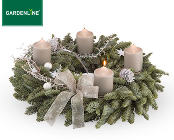 gardenline adventskranz oder gesteck gro von aldi s d. Black Bedroom Furniture Sets. Home Design Ideas