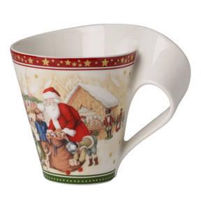 """Villeroy & Boch                NewWave Caffe                 Becher mit Henkel """"Weihnachtsmarkt"""""""