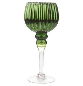 GALERIA home             Glaskelch, 30 cm, grün, Farbverlauf