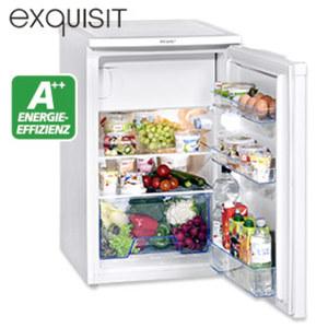 Kühlschrank KS 124-3 A++ • 98 Liter Nutzinhalt, davon 14 Liter ****Gefrierteil • Türanschlag wechselbar • Maße: H 84,0 x B 50,3 x T 54,6 cm • Energie-Effizienz A++ (Spektrum: A+++ bis D)