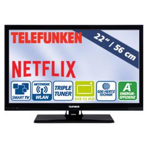 "22""-FullHD-LED-TV L22H282N4CW • HbbTV, H.265, 2 HDMI-Eingänge • USB-/CI+-Anschluss • Stand-by: 0,5 Watt, Betrieb: 17 Watt • Maße: H 31,7 x B 51,6 x T 3,5 cm • Energie-Effizienzklasse A+"