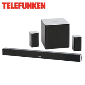 5.1-Bluetooth®-Funk-Soundbar SBS500W mit Subwoofer • 150 Watt RMS • integr. Decoder für DTS DigitalSurround™ • optischer Audio-Eingang, Aux-In • inkl. Wandmontage-Zubehör und Cinch-Kabel