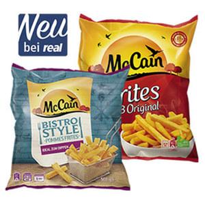 McCain 1-2-3 Frites 750 g oder Bistro Style * * * 500 g, ideal zum Dippen, gefroren, jeder Beutel und weitere Sorten