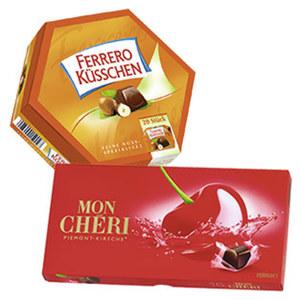 Mon Chéri oder Ferrero Küsschen jede 157/178-g-Packung
