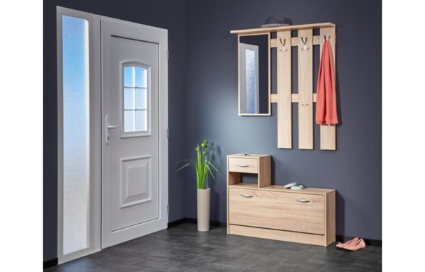 garderobe rudolf sonoma eiche nachbildung ca 100 x 180 x 25 cm von poco einrichtungsmarkt. Black Bedroom Furniture Sets. Home Design Ideas