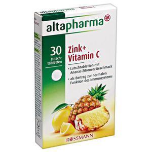 altapharma Lutschtabletten Zink + Vitamin C 2.20 EUR/100 g