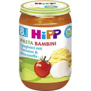 HiPP Bio Menü Pasta Bambini Spaghetti mit Tomaten & Moz 0.57 EUR/100 g (6 x 220.00g)