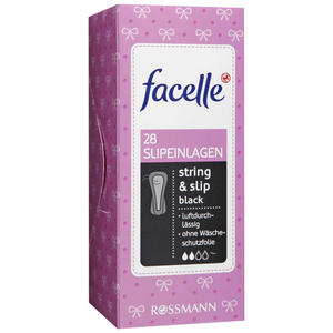 facelle Slipeinlagen string & slip black