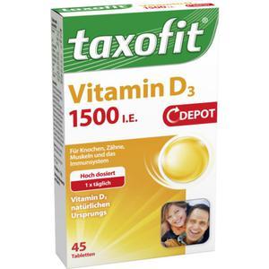 taxofit Vitamin D3 1500 I.E. Depot Tabletten