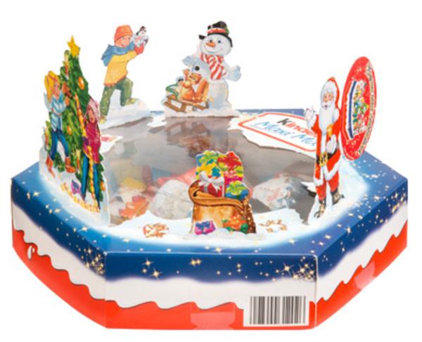 ferrero kinder maxi mix weihnachtsteller von aldi s d. Black Bedroom Furniture Sets. Home Design Ideas