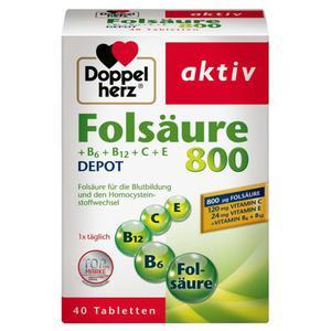 Doppelherz aktiv Folsäure 800 + B6, B12, C & E DEPOT 10.56 EUR/100 g