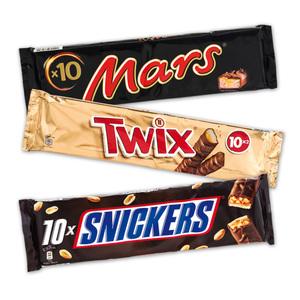 Mars/Twix/Snickers Schokoriegel 10er