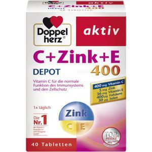Doppelherz aktiv C+Zink+E 400 Depot 8.65 EUR/100 g