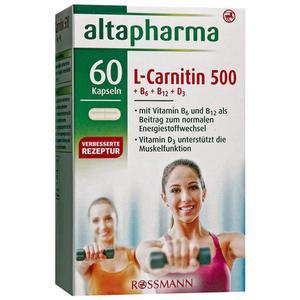 altapharma L-Carnitin 500 + B6 + B12 + D3 9.06 EUR/100 g
