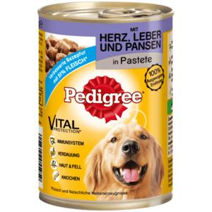 Pedigree Hundefutter Classic Herz, Leber & Pansen 400g