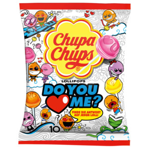 Chupa Chups Do you love me Lollipops 120g, 10 Stück