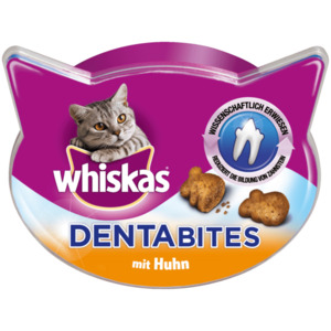 Whiskas Katzensnack Dentabites mit Huhn 40g