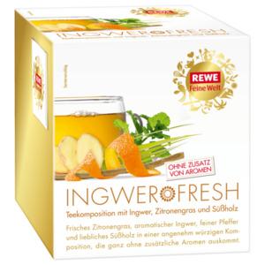 REWE Feine Welt Gewürztee Ingwer Fresh 45g