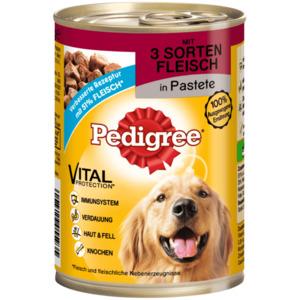Pedigree Hundefutter 3 Sorten Fleisch 400g