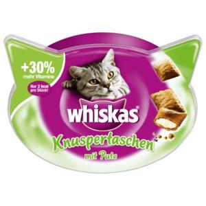 Whiskas Katzensnack Knuspertaschen mit Pute 60g