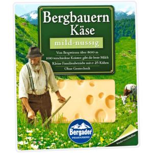 Bergader Bergbauernkäse mild-nussig Scheiben 160g