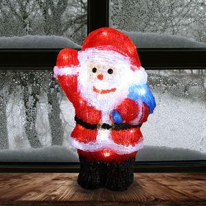 LED-Acryl-Weihnachtsmann mit Sack 20x30cm
