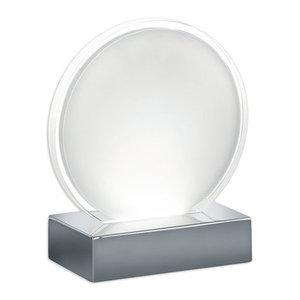 LED-Deko Tischleuchte OLLI - silber-weiß - rund