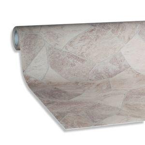 PVC-Bodenbelag PERU - Bruchsteinoptik beige - 4 Meter