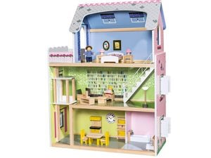 PLAYTIVE® JUNIOR Puppenhaus, 29-teilig