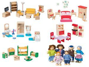 PLAYTIVE® JUNIOR Puppenhaus-Möbelset / 6 Biegepuppen