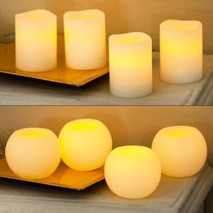 I-Glow LED-Echtwachs-Adventskerzen 4er-Set