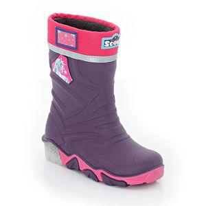 Scout Mädchen Regenstiefel, blinkende Sohle, violett