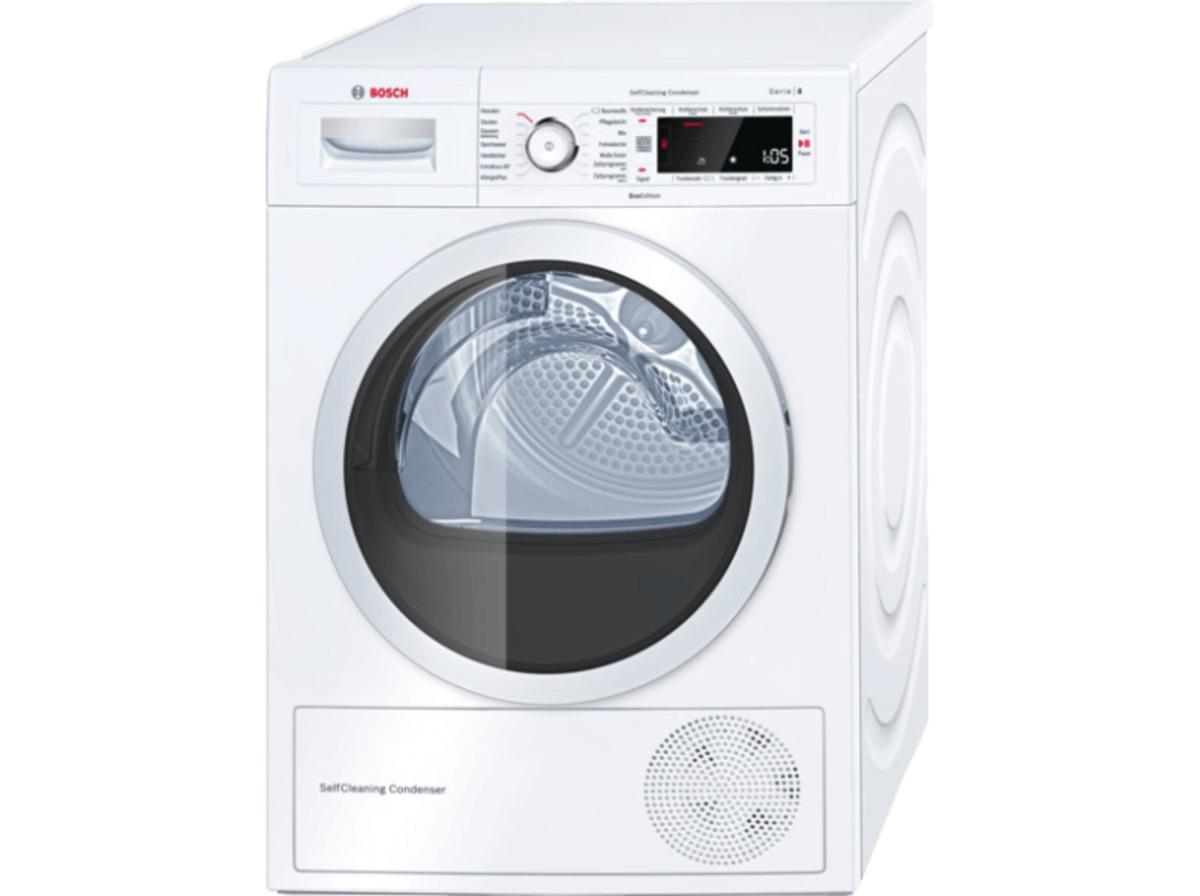 Bild 1 von BOSCH WTW875ECO, 8 kg Wärmepumpentrockner, A+++, Weiß