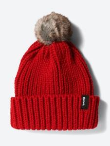 Grobgestrickte Mütze mit Bommel