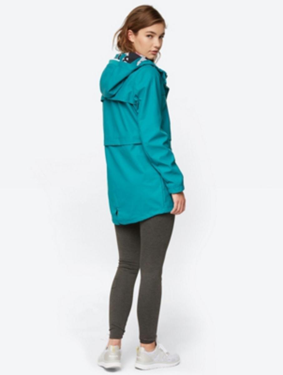 Bild 4 von Unifarbene Regenjacke mit weitenverstellbarer Kapuze